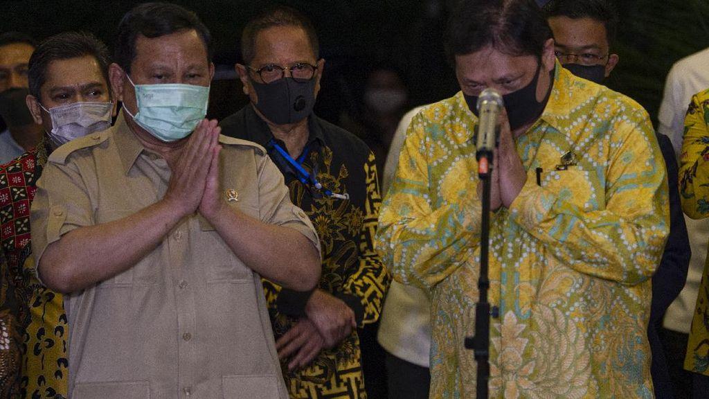 Pertemuan Prabowo dan Airlangga Juga Singgung Isu Reshuffle?