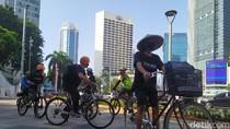 Kawal Gugatan Polusi Udara DKI, Koalisi Gerakan Ibu Kota Gowes ke PN Jakpus