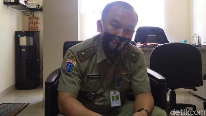 Lurah Grogol Selatan, Asep Subahan, saat ditemui di kantornya