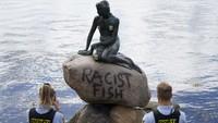 Hiks... Patung Putri Duyung di Denmark Dicap Rasis