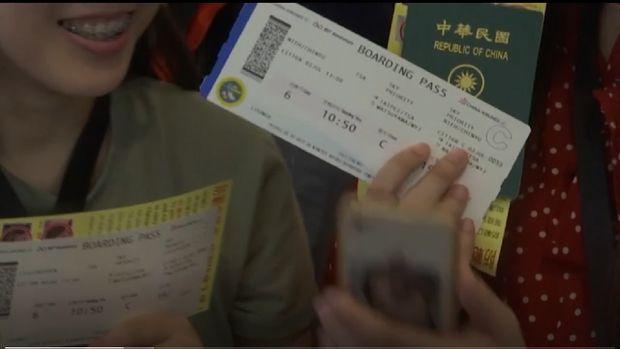 Bandara Internasional Taipei membuat penerbangan pura-pura untuk traveler yang naik pesawat.