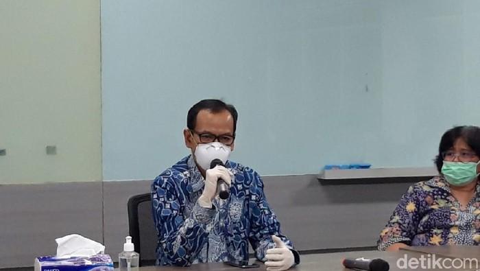 Plt Dirjen Kemendikbud Nizam  di Gedung Rumpun Ilmu Kesehatan Universitas Indonesia (RIK UI), Depok, Senin (6/7/2020).