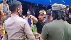 Video Pria Ngamuk Saat Judi Sabung Ayamnya Dibubarkan Polisi