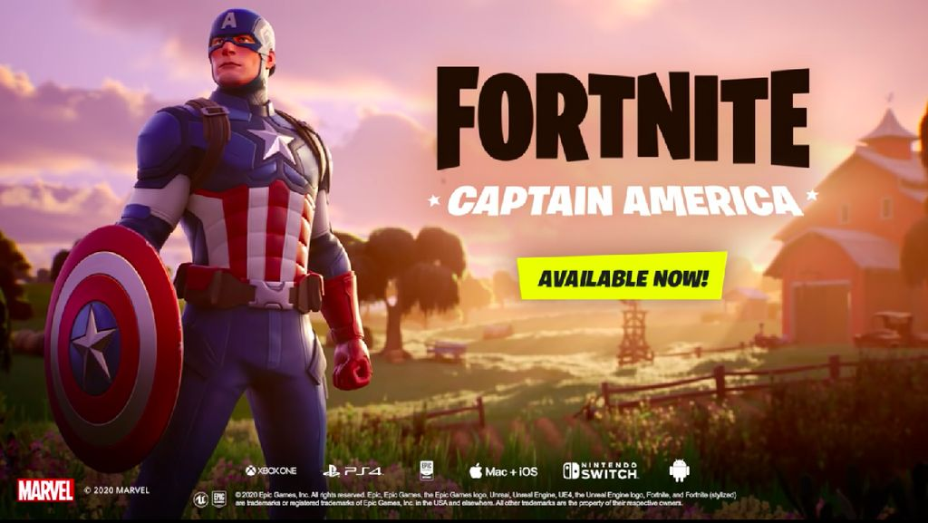 Fortnite Kedatangan Captain America