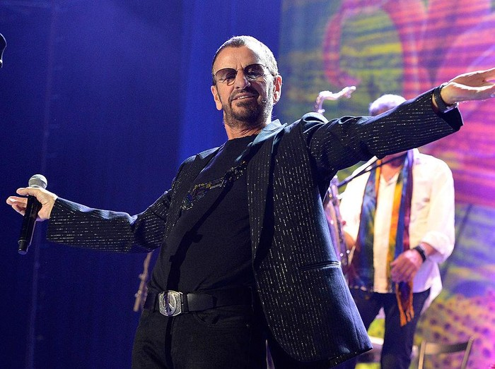 BRISBANE, AUSTRALIA - FEBRUARY 11:  Ringo Starr performs live on stage at the Brisbane Convention & Exhibition Centre on February 11, 2013 in Brisbane, Australia.  (Photo by Bradley Kanaris/Getty Images)