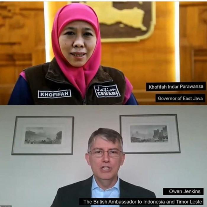 Data real time COVID-19 di Jawa Timur kini bisa diakses lebih luas oleh seluruh masyarakat. Karena, Pemprov Jatim telah berkolaborasi dengan Kedutaan Inggris untuk mengoptimalkan akses ini.