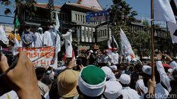 Massa Pendemo Tolak RUU HIP di Surabaya Bubar Usai Ditemui DPRD Jatim