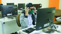 9 Orang Tunanetra Ikuti UTBK di Kampus UPI