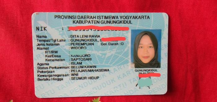 Dita Leni Ravia, Gunungkidul, Selasa (7/7/2020).