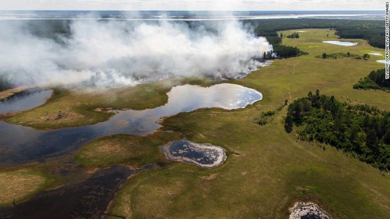Kebakaran hutan di Yakutia, Siberia