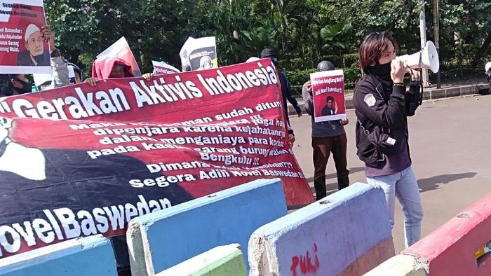 Mahasiswa dan aktivis yang tergabung dalam Gerakan Aktivis Indonesia (GAI) kembali menggelar aksi di Taman Pandang Istana. Apa yang dituntut?