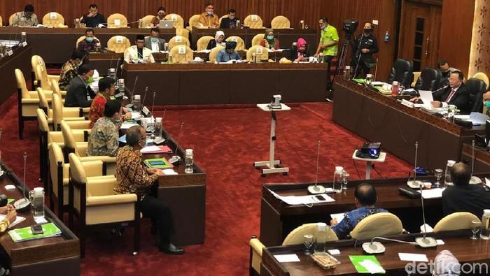 Mentan Syahrul Yasin Limpo rapat dengan Komisi IV DPR (Vadhia Lidyana-detikcom)
