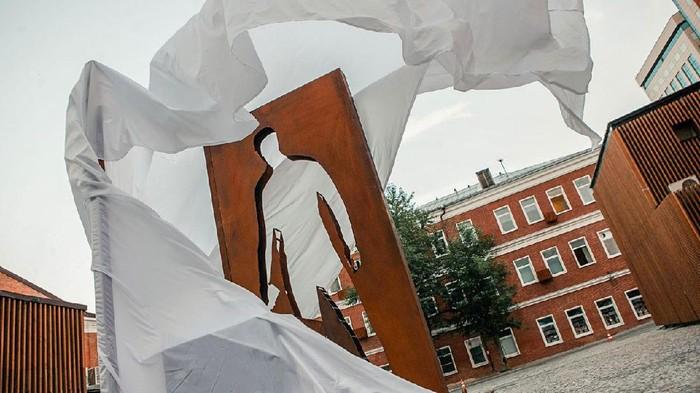 Monumen Kurir Barang di Moskow, Rusia