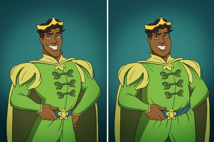 potret pangeran disney gendut