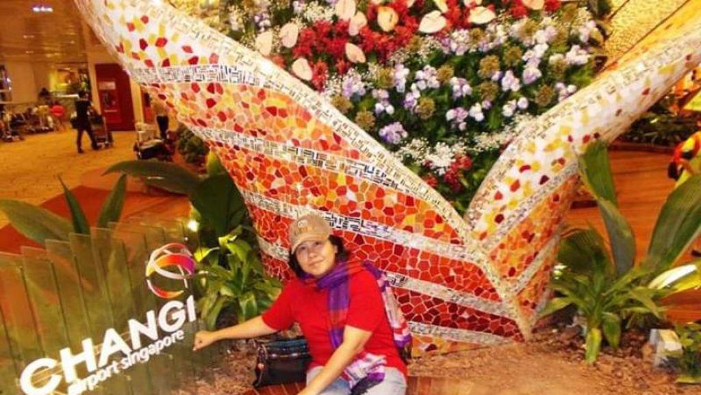 Cantiknya Taman Mungil Bandara Changi Singapura