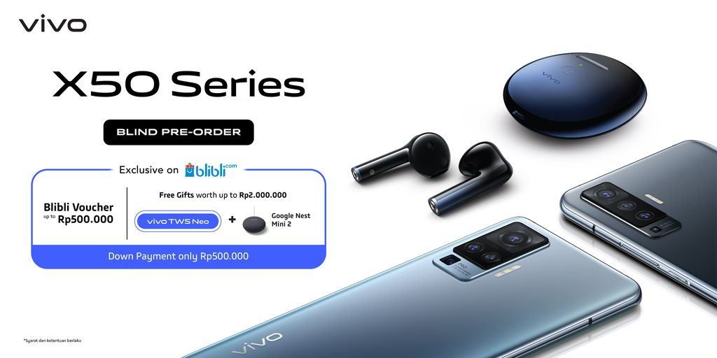 Vivo buka Blind Pre-order Vivo X50 Series