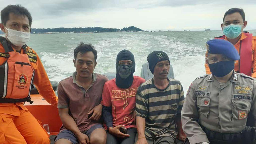 2 Hari Hilang di Selat Makassar, 3 Nelayan Penajam Ditemukan Selamat