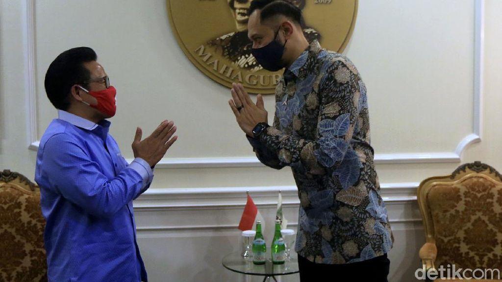 Momen AHY Silaturahmi dengan Cak Imin di Kantor DPP PKB