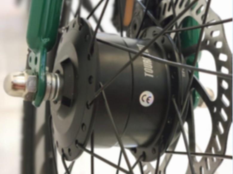 Alat yang menjadikan sepeda biasa menjadi sepeda listrik dengan menggunakan Micro Hub.