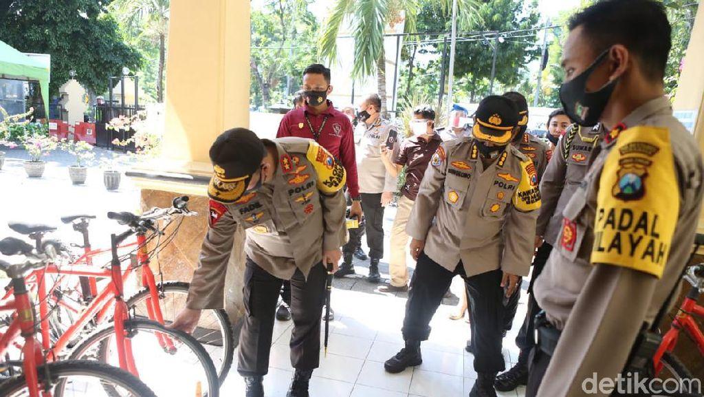 Kasus COVID-19 Surabaya Tertinggi di Jatim, Kesiapan Bhabinkamtibmas Dicek