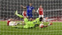 Jamie Vardy Layak Dikartu Merah Sebelum Jebol Gawang Arsenal?
