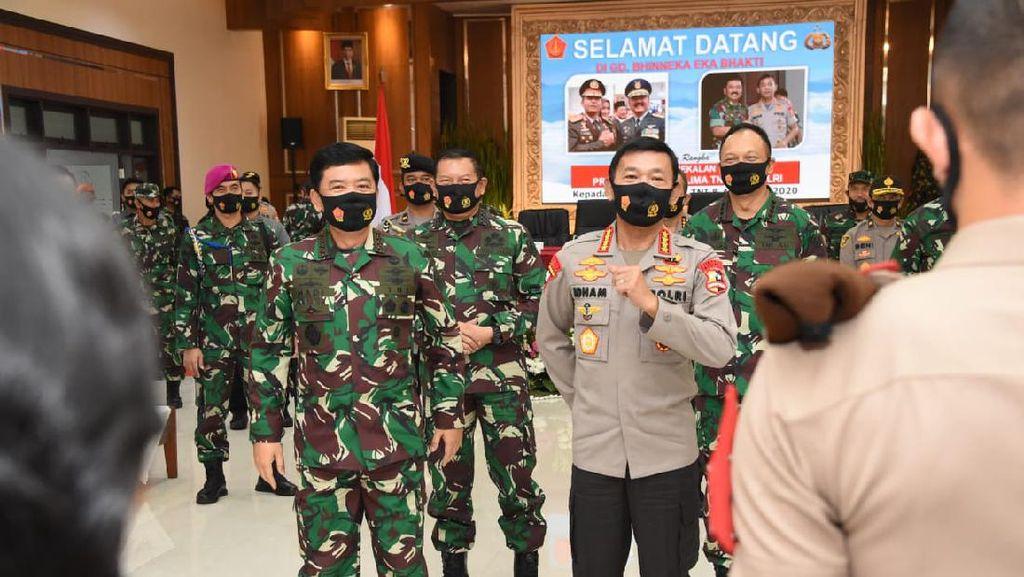 Panglima TNI-Kapolri Beri Pesan Ini ke Capaja Saat Bertugas