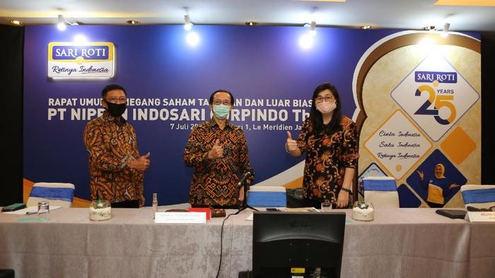 PT Nippon Indosari Corpindo Tbk menggelar RUPST di Jakarta, Selasa (7/7/2020). Produsen Sari Roti itu membagikan dividen sebesar Rp 149,5 miliar.