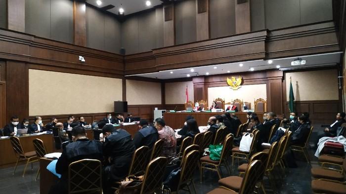 Sidang kasus Jiwasraya di PN Jakarta Pusat pada Rabu, 8 Juli 2020