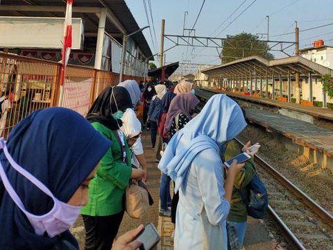 Suasana Stasiun Bojonggede, Rabu (8/7/2020).