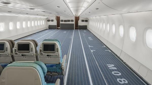 Airbus A380 sebenarnya tak memiliki versi kargo. Tapi sekarang, pesawat ini dikonversi untuk mengangkut alat medis. (Hi Fly)