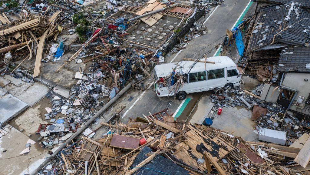 Ngeri! Dampak Dahsyatnya Terjangan Banjir Longsor di Jepang