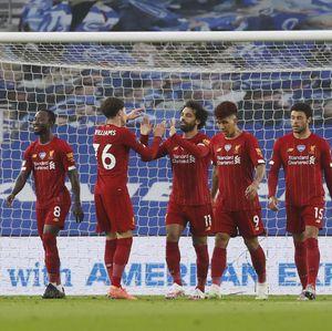 Liverpool Unggul 2-1 Atas Brighton di Babak Pertama