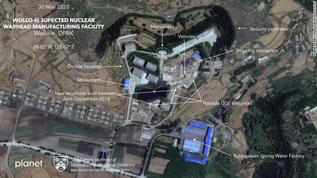 Foto Satelit Ungkap Aktivitas di Fasilitas Nuklir Korea Utara
