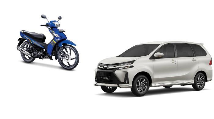 Ilustrasi motor dan mobil baru