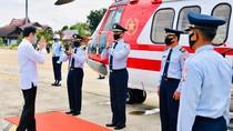 Kunjungi Kapuas, Jokowi Gunakan Heli Merah Putih