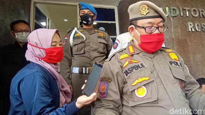 Kabid Ketentraman dan Ketertiban Umum Satpol PP Kota Bandung Taspen Effendi