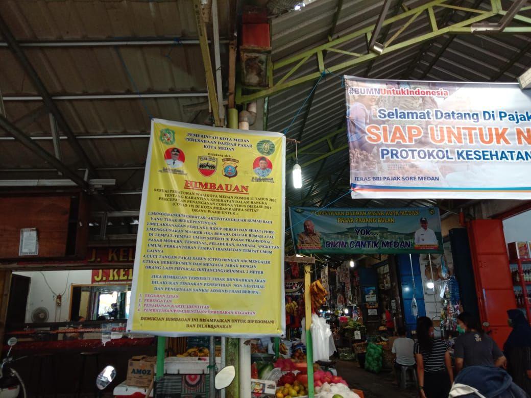 Kondisi di Pasar Padang Bulan, Medan (Ahmad Arfah-detikcom)