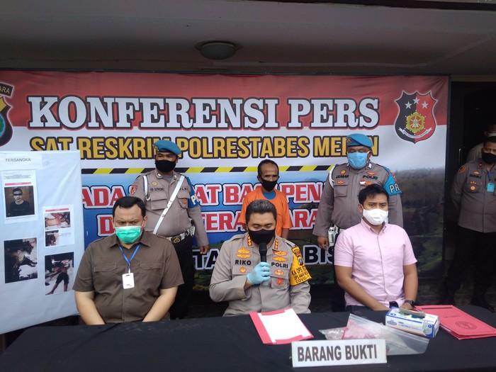 Konferensi Pers di Polrestabes Medan (Datuk Haris Molana-detikcom)