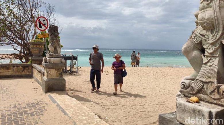 Kondisi Pantai Sanur Bali saat masuk New Normal.