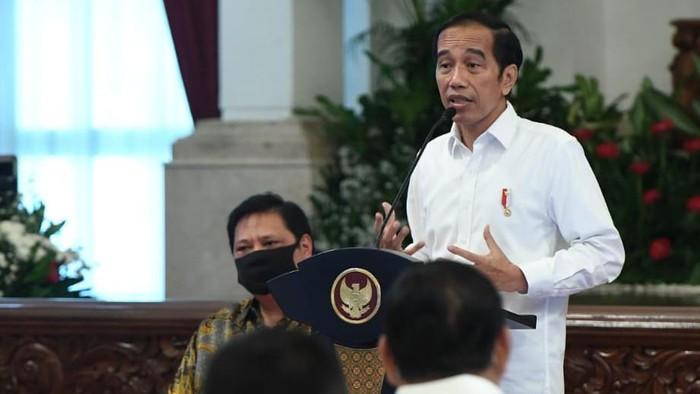 Presiden Jokowi saat ratas percepatan penyerapan anggaran. (Foto: Biro Pers Setpres)