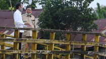 Potret Kebersamaan Jokowi-Prabowo Tinjau Lumbung Pangan