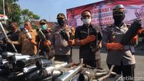 Ratusan Motor Sport Disita Gegara Pakai Knalpot Brong Saat Balap Liar