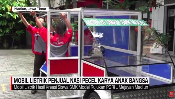 Siswa SMK di Madiun Bikin Mobil Listrik untuk Jualan Nasi Pecel