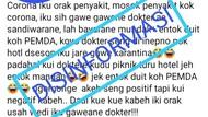 Heboh Postingan Corona Konspirasi Dokter-Pemda, Diskominfo Jepara: Hoax!