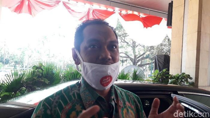 Wakil Ketua KPK, Nurul Ghufron, di Balai Kota DKI (M Ilman Nafian/detikcom)