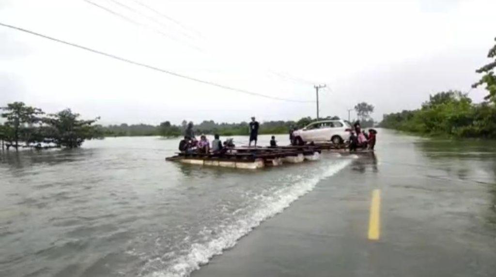 Banjir Rendam Konawe Utara, Akses Jalan Lintas Provinsi Terputus