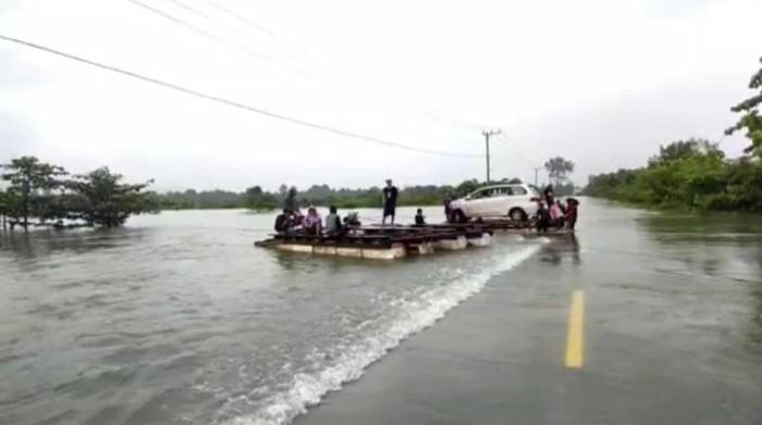 Banjir di Konawe Utara (Foto: Istimewa)