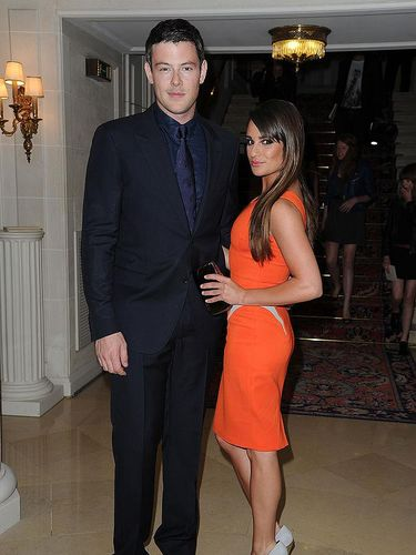 PARIS, FRANCE - JULY 01:  Cory Monteith and Lea Michele arrive at the Versace Haute-Couture show as part of Paris Fashion Week Fall / Winter 2012/13 at the Ritz hotel on July 1, 2012 in Paris, France.  (Photo by Pascal Le Segretain/Getty Images)