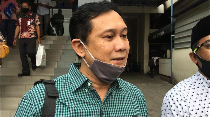 Denny Siregar di Polda Metro Jaya, Jumat (10/7/2020).