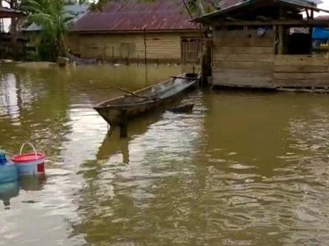 Kondisi banjir di Konawe Utara, Sultra pada 10 Juli 2020
